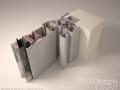 Modelo 3d de carpintería de pvc