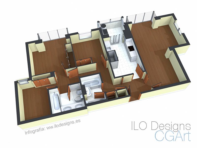 Planos 3d de venta o alquiler ilo designs for Planos 3d online